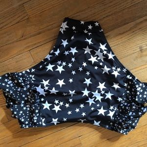 Cute side ruffle star bottoms